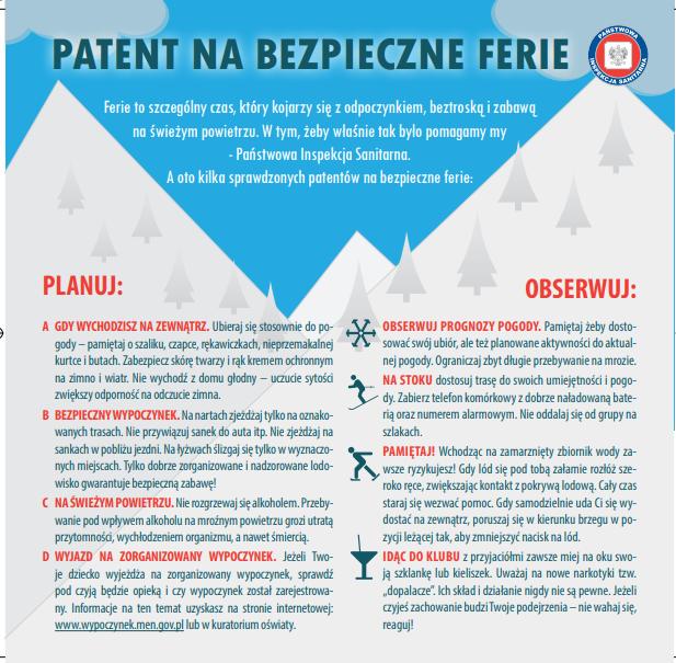 Patent na bezpieczne ferie zimowe